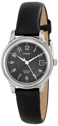 Timex Women's T29291 Porter Street Black Leather Strap Watch