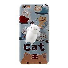 Lemonda Pinch Squishy Phone Cover, 3D Cute Soft Silicone Squishy Phone Case for iPhone iPhone 6s 6 (Squishy Cat A)