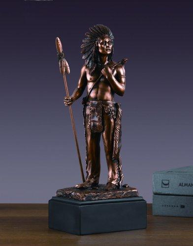 Native American Hero Bronze Finish Statue - Figurine