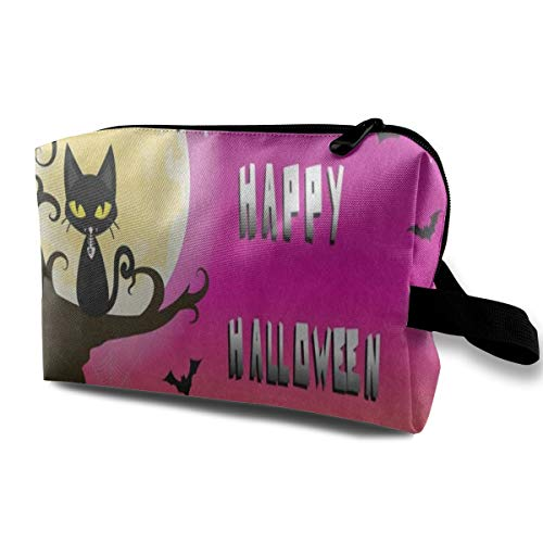 Makeup Bag Happy Halloween Cat Tree Moon Colorful Handy Travel Multifunction Cosmetic Bags Hot Storage for -