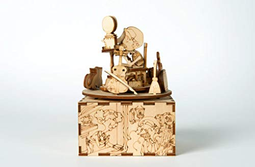 Pinocchio 3D Puzzle /& Music Box #1 Once Upon a Time Laser Cut Wooden Kit Kardamom