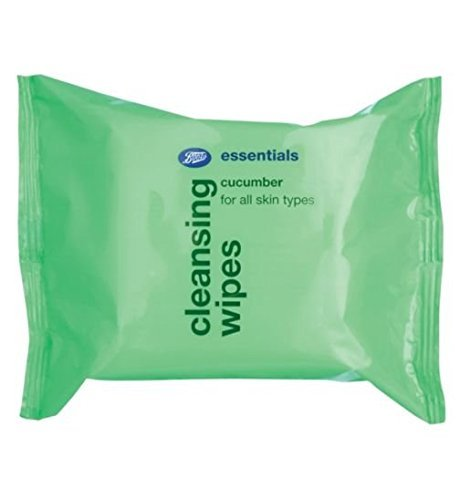 Boots Essential Refreshing Cucumber Cleansing Wipes 25's by - Boots Chemist Products