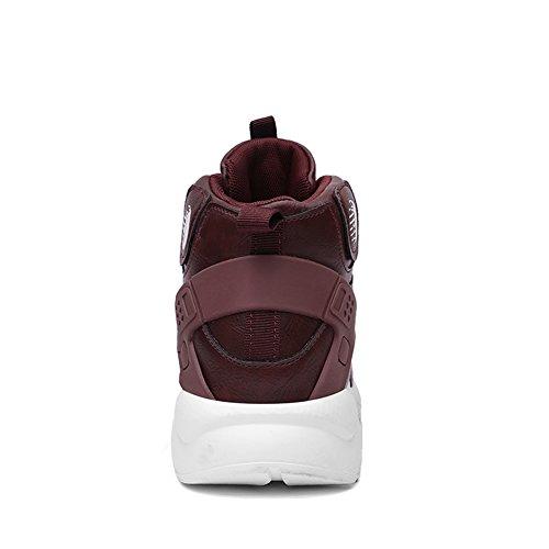 Da Basse Corsa Running Fitness Sportive Fexkean Alte Rosso Uomo Scarpe Ginnastica Sneaker qEwxUXH