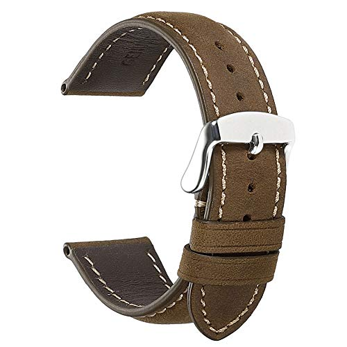 CHIMAERA Watch Band Leather Strap Vintage Crazy Horse Genuine Leather Replacement Watchbands for Men for Women 18mm 19mm 20mm 21mm 22mm 24mm