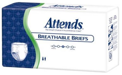 48BRBX10PK - Attends Adult Extra Absorbent Breathable Brief Youth/Small 20 - 30