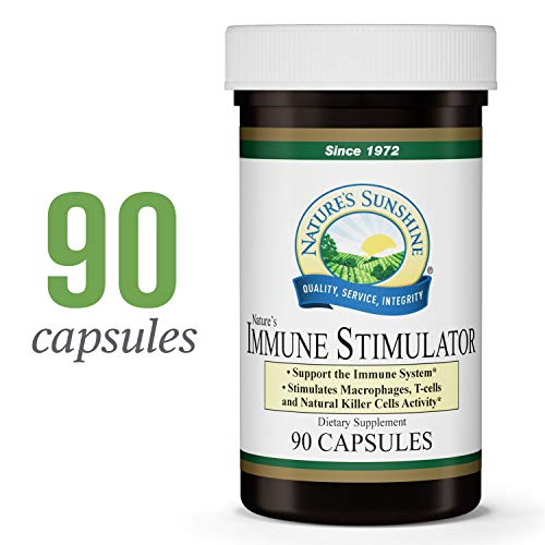 Nature s Sunshine Immune Stimulator, 90 Capsules Immune System Booster with Long-Chain Polysaccharides to Stimulate Immune Cells and Maintain Healthy Defenses