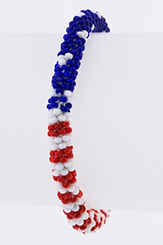 Karmas Canvas Stars & Stripes Nepal Roll Up (Candy Stripes Murano Glass)