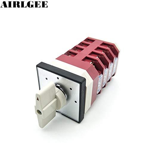 AC 380V 220V 16A 4 Position redary Cam Universal Changeover Switch 16 Screw Teminals