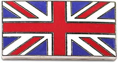 UNION JACK METAL SELF ADHESIVE ENAMELLED//FULL COLOUR FLAG CLASSIC CAR BADGE