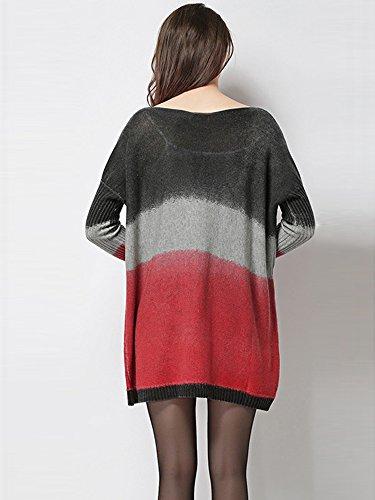 Medeshe - Jerséi - para mujer Black/Grey/Red