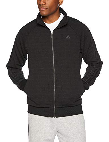 adidas Men's Athletics Badge of Sport 3 Stripe Cotton Jacquard Pullover, Black, XX-Large ()