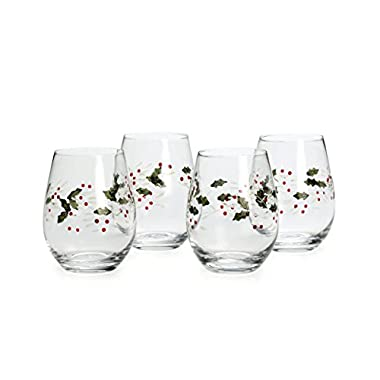 Pfaltzgraff Winterberry Stemless Wine Glasses (Set of 4)