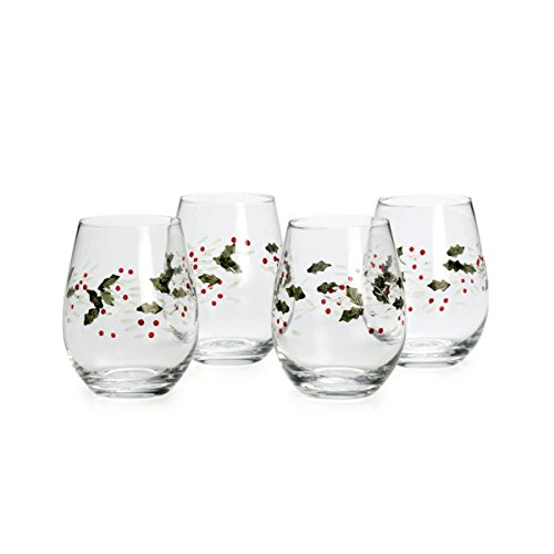 Pfaltzgraff Winterberry Stemless Wine Glasses (Set of 4) (Collection Tableware Winterberry)