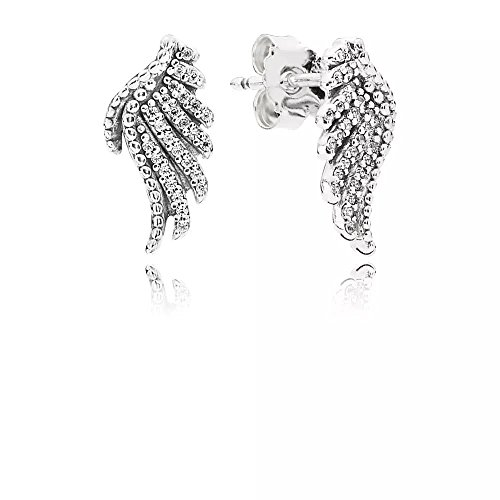 Clear CZ Stud Earrings in 925 sterling silver set with shimmering cubic zirconia (Majestic Set Earrings)