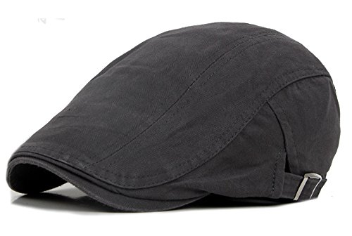 Qunson Men's Cotton Flat Ivy Gatsby Newsboy Driving Hat Cap ()
