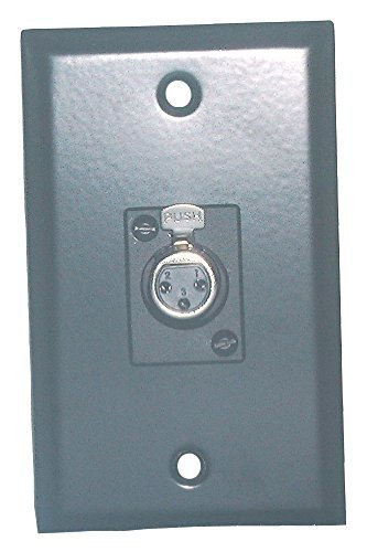 Philmore Black Stainless Steel Wall Plate With Single XLR 3-Pin Female Connector; 75-784