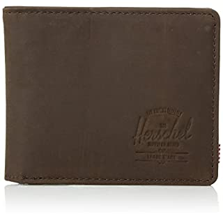 Herschel Unisex-Adult's Roy Leather RFID Blocking Wallet, brown, One Size