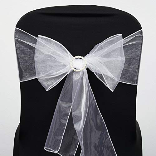 - Mikash Organza Chair Sashes Bows Ties Wedding Reception Decorations Dinner Wholesale | Model WDDNGDCRTN - 4004 | 10 pcs