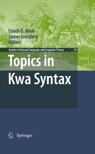 Download Topics in Kwa Syntax: 78 (Studies in Natural Language and Linguistic Theory) Pdf