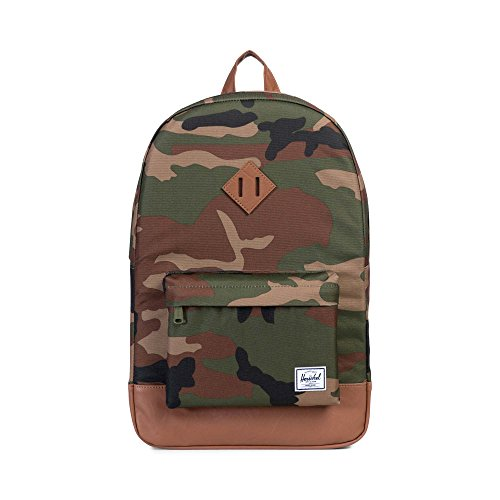 Herschel Heritage Backpack - Woodland Camo/Tan Synthetic Leather