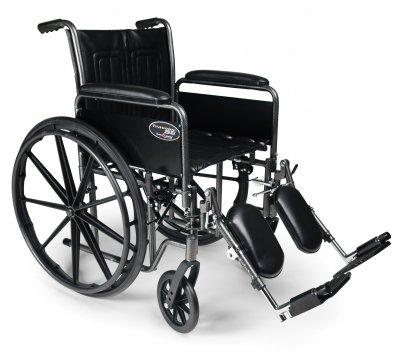 Everest & Jennings 3E010300 Traveler SE Wheelchair, Fixed Full Arm, Swing Away Footrest, 20
