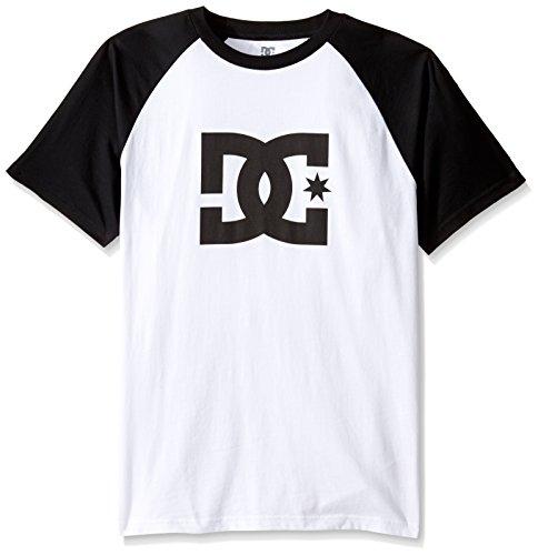 DC Shoes Men's Star Raglan SS T Shirt White Black S