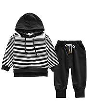 Nwada Kinderkledingset voor jongens, babykleding, set met capuchon en broek, outfit, kleine kinderen, sportkleding