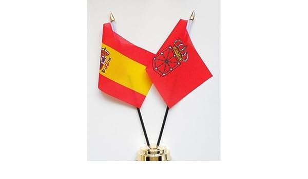 España y Navarra de la amistad bandera de mesa pantalla 25 cm (10