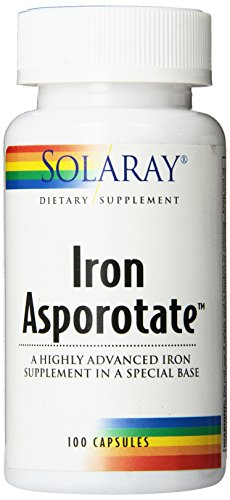 Solaray Iron Asporotate Capsules, 18mg, 100 Count