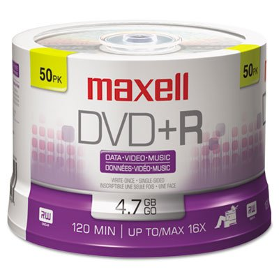 DVD+R Discs, 4.7GB, 16x, Spindle, Silver, 50/Pack, Sold as 2 Package
