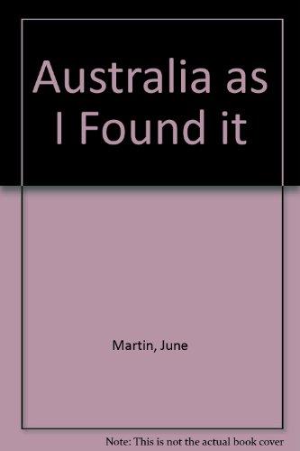 Australia as I Found it