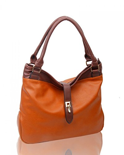 Her Brown Bag LeahWard® Tote Handbags Women's Soft Leather For Bag Bags Faux CW16001 Shoulder vwq17OSv