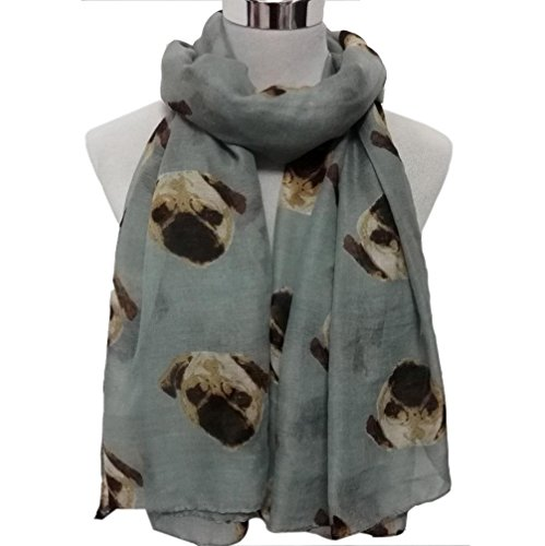 Scarf Shawl HCFKJ Ladies Lightweight Wrap For Evening Dresses Elegant Blanket Cute Pug Dog Print Wraps 164Cmx50Cm - Shops Fair Erina