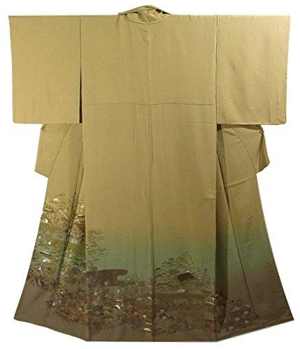 リサイクル 色留袖 蘇州刺繍 一つ紋 正絹 袷 御所文様 裄62.5cm 身丈155cm