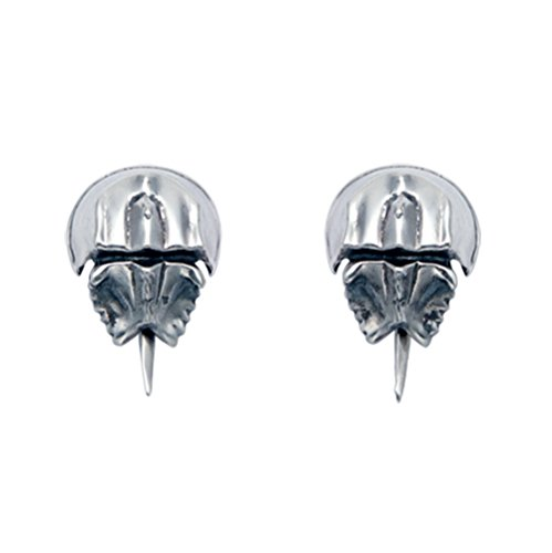 Sterling Silver Horseshoe Crab Stud Earrings