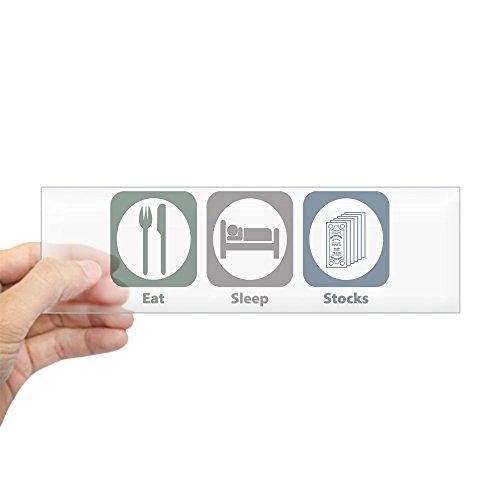 CafePress - Eat Sleep Stocks Bumper Sticker - 10
