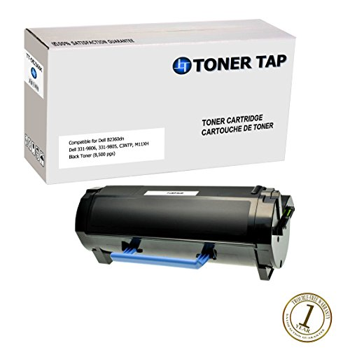 Toner Tap High Capacity Replacement Toner for Dell B2360, B3460, B3465 (8,500 pages), Compatible with Dell Part #'s Dell M11XH, 331-9805 by Toner Tap