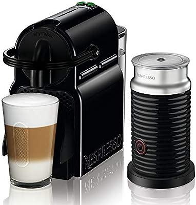 Nespresso DeLonghi Inissia Milk EN 80BAE Cafetera de cápsulas, 1500W, 0.7 L, 19 bareses, compacta, apagado automático, negro