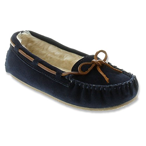 Minnetonka  Cally Slipper, chaussons d'intérieur femme - Bleu - Bleu marine, 42 EU