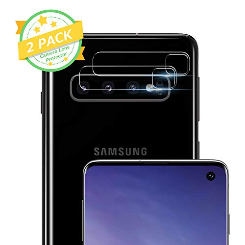 Camera Lens Protector - [2 Pack] ICHECKEY Super Clear Ultra HD Back Camera Lens Tempered Glass Screen Cover Film Shield for Samsung Galaxy S10/S10+ ()