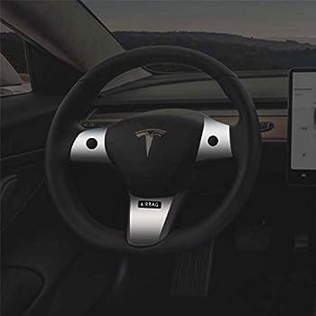 Amazon com: BASENOR Tesla Model 3 Steering Wheel Cover, Car