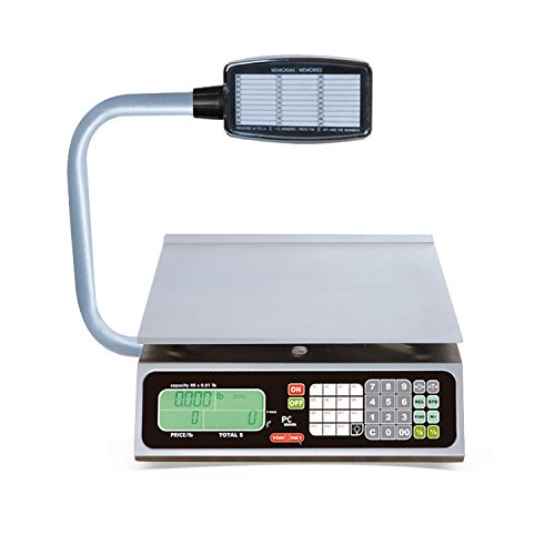 TORREY PC40LT Electronic Price Computing Scale, 40 lb, 8 Direct Access Keys, 100 Memories by TORREY