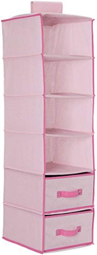 Meccion Kleiderschrank-Organizer 4 Taschen Schlafzimmer oder /überall im Haus Schick beige Stoff-T/ür-H/ängeaufbewahrung f/ür Kinderzimmer