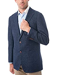 Men's Two Buttons Wool Blend Classic Fit Casual Sports Coat Blazer Jacket
