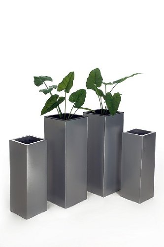4er Set Zink Blumenkübel Pflanzkübel Pflanzgefäße Übertöpfe Blumentöpfe