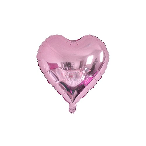 Marvin Cook Foil Balloons Star Balls Happy New Year Party Decoration Air Helium Balloons Home For Christmas Holiday Birthday 5Pcs Heart Light Pink 18Inch ()