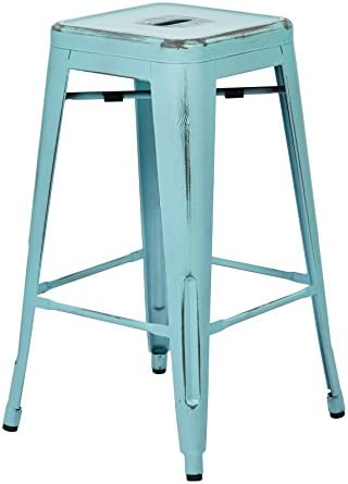 OSP Home Furnishings Bristow Antique Metal Barstool