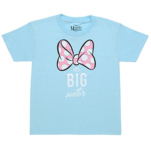 Juvy Heather T-shirt - Minnie Mouse The Big Sister Juvy T-Shirt - Heather Blue (7)
