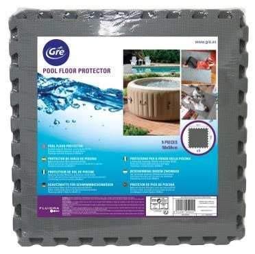 Gre MPF509GY - Protector de Suelo para Piscina, 9 piezas, Color Gris, 8 mm de Grosor: Amazon.es: Jardín