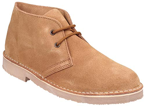 SAHARA Unisex Suede Leather Desert Boots Tan
